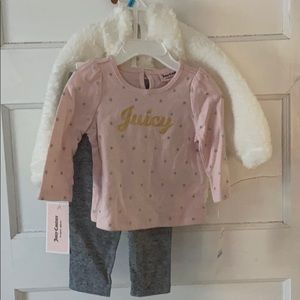 Juicy couture 3 piece 6-9 month outfit